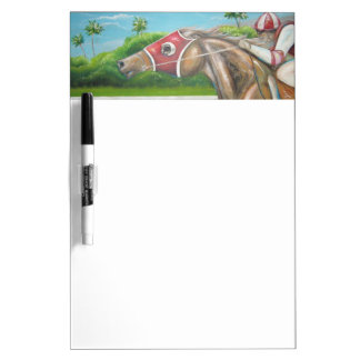Race Horse Dry Erase Board
