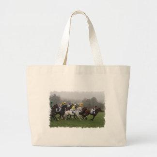 Race Horse Field Canvas Bag