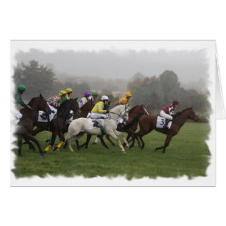 Race Horse Field Greeting Card