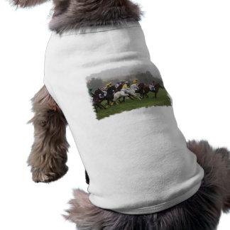 Race Horse Field Pet Shirt