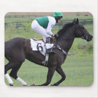 Race Horse Galloping Mouse Pad
