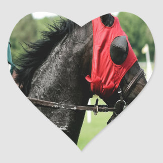 Race Horse Heart Sticker