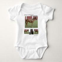 RACE HORSE INFANT CHILD'S BABY BODYSUIT