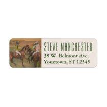 Race Horse & Jockey   Edgar Degas Label