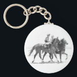 "Race horse keychain<br><div class=""desc"">Pen and ink drawing by Mark Tabler of a horse before a race at Churchill Downs</div>"
