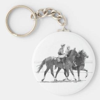Race horse keychain