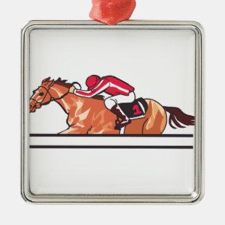Race Horse Metal Ornament