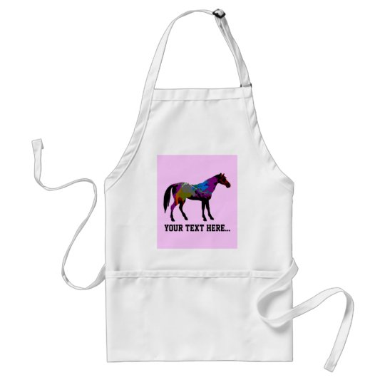 Race Horse Personalised Adult Apron