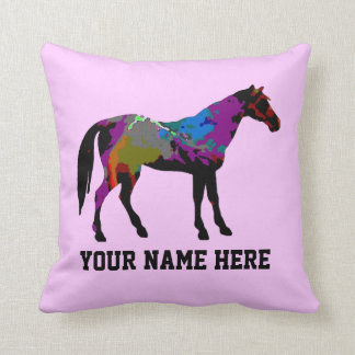 Race Horse Personalised Throw Pillow