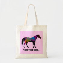 Race Horse Personalised Tote Bag