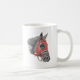 Race Horse Portrait Silks Coffee Mug