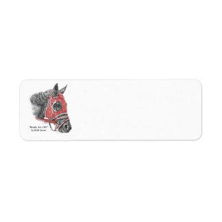 Race Horse Portrait Silks Return Address Label