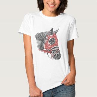 Race Horse Portrait Silks Tee Shirt