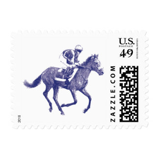 Race Horse Postage