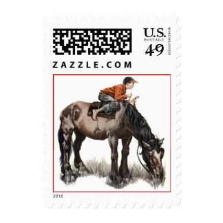 Race Horse Racing Derby Dreams Jockey Stamp