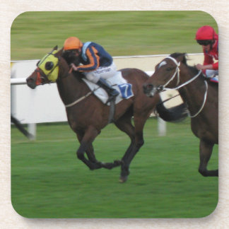 race horse, racing sports beverage coaster