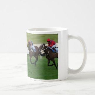 race horse, racing sports coffee mug