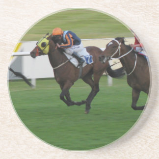 race horse, racing sports sandstone coaster