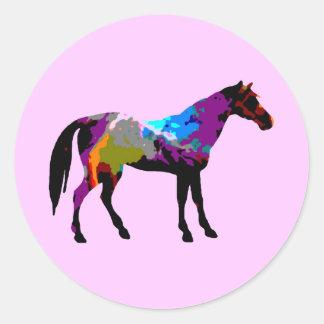 Race Horse Round Sticker