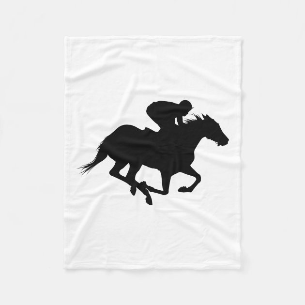 Race Horse Silhouette Fleece Blanket Zazzle Com