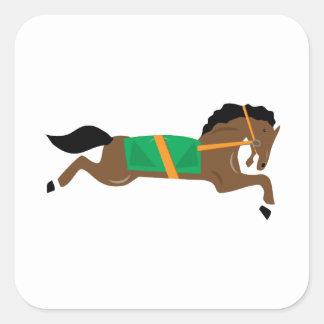 Race Horse Square Sticker