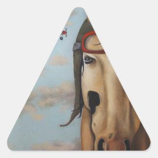 Race Horse Triangle Sticker