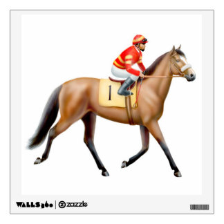 Race Horse Trotting to the Post Wall Decal