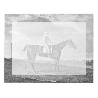 Race Horse Vintage Art Note Pad