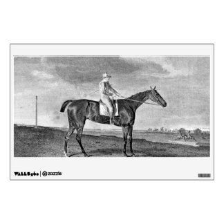 Race Horse Vintage Art Room Decals