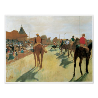 Race Horses Before the Stands Degas Poster