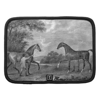 Race Horses Black and White Folio Planners