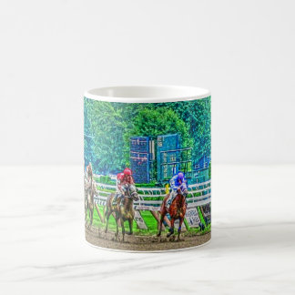 Race-Horses Coming to the Stretch Photo-Art Coffee Mug