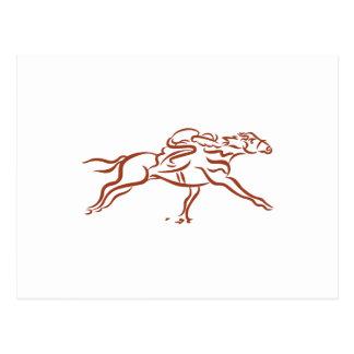 Race Horses Postcard