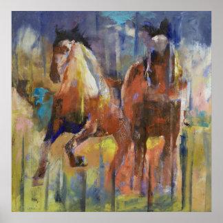Race Horses Print