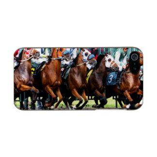Race Horses Starting Gate Metallic Phone Case For iPhone SE/5/5s