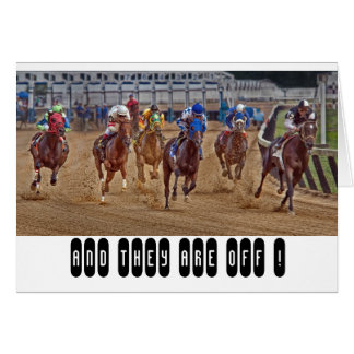 Race Horses Thoroughbreds Card