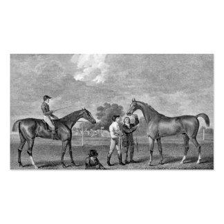 Race Horses Vintage Art Business Card
