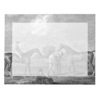 Race Horses Vintage Art Notepad