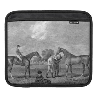 Race Horses Vintage Art Sleeves For iPads
