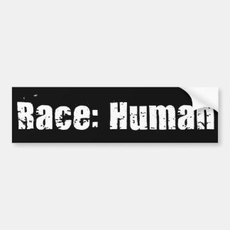 Race: Human Bumper Sticker