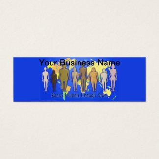 Race Human Enough Said World Races People United Mini Business Card