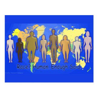 Race Human Enough Said World Races People United Postcard