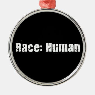 Race: Human Metal Ornament