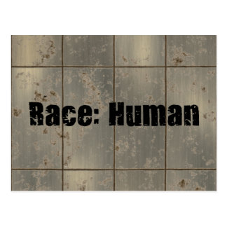Race: Human Postcard