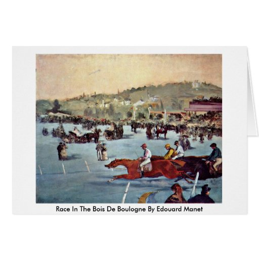 Race In The Bois De Boulogne By Edouard Manet Card
