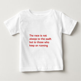 race-is-not-always-to-the-swift-eur-dark-red.png baby T-Shirt