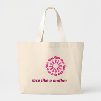 Race Like a Mother Jumbo Tote Bags