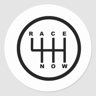 Race Now Gear Box Tribal Classic Round Sticker