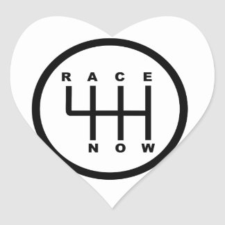 Race Now Gear Box Tribal Heart Sticker