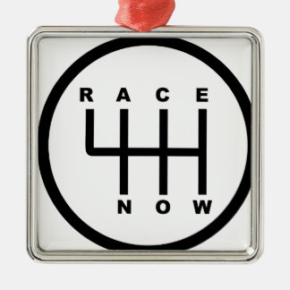 Race Now Gear Box Tribal Metal Ornament